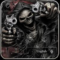 Devil Death Skull Gun Keyboard Theme