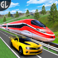 Car vs Train Real Racing Simulator
