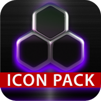 icon pack HD 3D glow purple