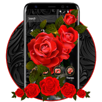 Luxury Black Red Rose Theme