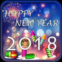 Happy New Year 2018 photo frame