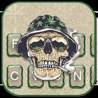 Joint Smoke Skull Warrior Keyboard Theme
