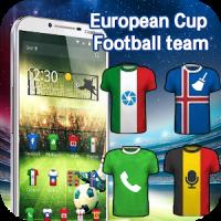 European Cup football theme 3D