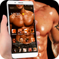 Theme Mature Adult Man Muscle Keep Fitness