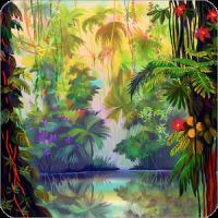 発光ジャングルの壁紙