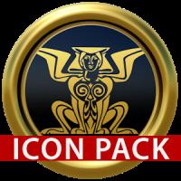 Babylon gold blue ICON PACK