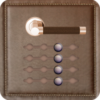 Stylish Leather Door Lock