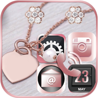 Pink Rose Gold Theme Rose gold Diamond