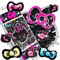 Kitty Black Diamond Bowknot Sweet Princess Theme