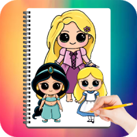 Drawing Cute Chibi Princess, Step by Step Drawing