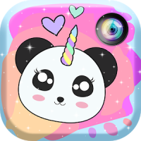 Panda Unicorn Kawaii Photo Stickers