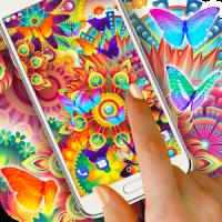 Neon Butterflies Wallpaper Free Live Wallpapers