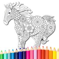 Animal coloring mandala pages
