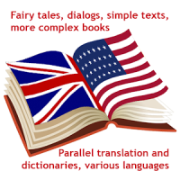 English books, various parallel dictionaries