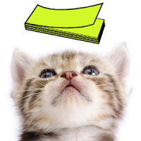 Cat Sticky Note Notepad