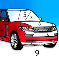 Cars Color by Number