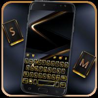 Gold Black Business Tema de teclado