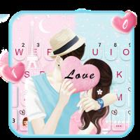 Romantic Couple Love Tema de teclado