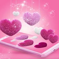 Pink Fluffy Love Heart Live Wallpaper 2020