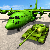 Army Tank Transport Plane Sim : Army Transporter