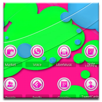 ADW Theme Neon Pink Orbs