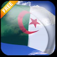 3D Algeria Flag Live Wallpaper
