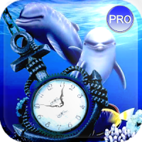 Clock Aquarium Live Wallpaper.