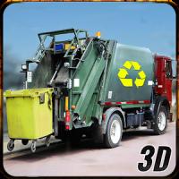 Stadt Müll Müllkipp LKW Fahrer