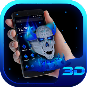 Blue Skull King 3D Theme