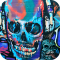 Rock Skull Graffiti theme 3D