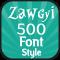 Zawgyi 500 Font Style