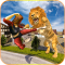 Angry Lion City Attack 3D