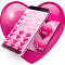 Pink Hearts Dialer Theme