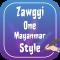 Zawgyi One Mayanmar Fonts Style