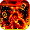 Flaming Fire Battle Keyboard Theme