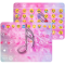 Emoji Keyboard Pink Flower