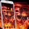 3D Flame Rock Skull Theme