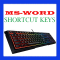 MS-Word Shortcut Keys