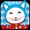 Blue Cute Kitty Keyboard Theme