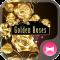 Beautiful Wallpaper Golden Roses Theme