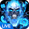 Blue Fire Skull Themes & Wallpapers